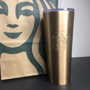 Starbucks copper (gold) stainless steel tumbler